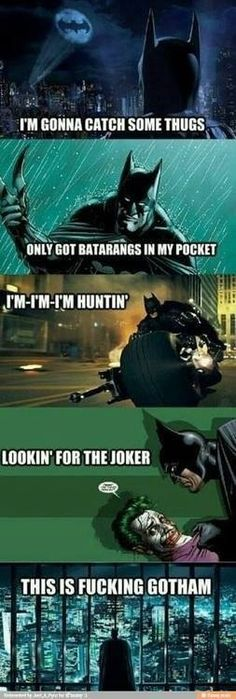 Batman, meet Macklemore. Mackelmore, this is Batman...