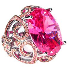 Topaz Pink Ring w/ Jeweled Band