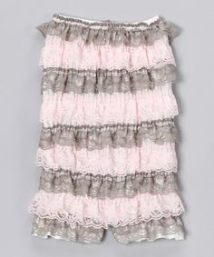 Take a look at this Pink Urban Cupcake Strapless Ruffle Romper - Infant by Baby Lace Rompers on #zulily today!