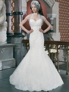 Fit & Flare Jeweled Empire Waist Justin Alexander Bridal Gown 8700 : DimitraDesigns.com