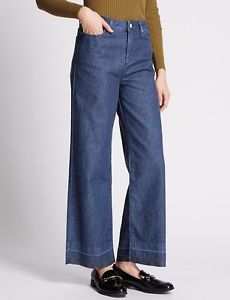 6ca8f3fc7f6e3 Size 10 Marks   Spencer LIMITED EDITION Wide Leg Ankle Grazer Denim Jeans