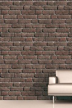 Wood Effect Wallpaper, Brick Effect Wallpaper, Stick On Wallpaper, Modern Wallpaper, Wallpaper Samples, Wallpaper Ideas, Brick And Wood, Brick Walls, Fake Brick