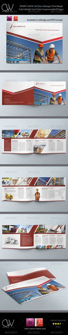 Corporate Brochure Template Vol.24 8 Pages — InDesign INDD #modern #creative • Available here → https://graphicriver.net/item/corporate-brochure-template-vol24-8-pages/6768024?ref=pxcr