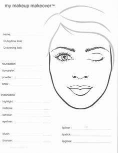 Mary Kay Makeup Face Sheets