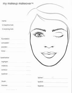 Mary Kay Makeup Face Sheets