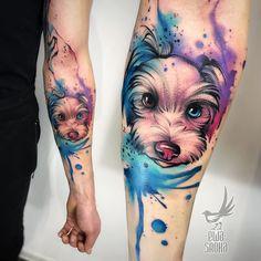 Tattoo by Mermaid tattoo – Fashion Tattoos Tattoos For Dog Lovers, Dog Tattoos, Animal Tattoos, Body Art Tattoos, Small Tattoos, Sleeve Tattoos, Tattoos For Women, Tatoo Dog, Arm Tattoo