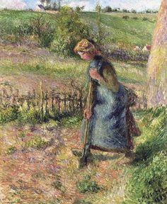 Woman Digging, 1883. Camille Pissarro