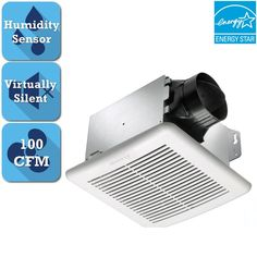 Delta BreezGreenBuilder Series 100 CFM Wall or Ceiling Bathroom Exhaust Fan with Adjustable Humidity Sensor, ENERGY STAR (4) Write a ReviewQuestions & Answers (5)DC brushless motor consumes less power for energy conservationIncludes humidity sensor and adjustable, low speed controls100 CFM airflow with 1.4 sones of ultra-quiet operation$10900/each