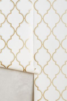 Golden Trellis Wallpaper - anthropologie.com