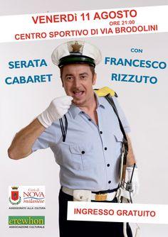 Serata cabaret con Francesco Rizzuto al Centro Sportivo di Nova Milanese