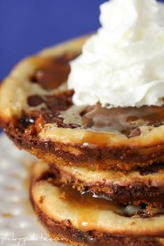 yum. snickers caramel cheesecake cookies