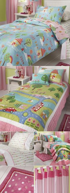 how adorable is this! My Garden bed linen set by Freckles. I like this look for Hailey's room