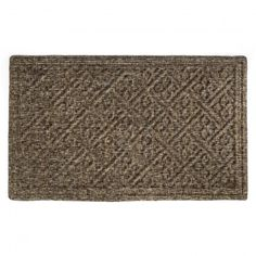 Our doormat's beautiful floral cross hatched pattern makes for an ideal entrance to your home. This woven 80% polyester and 20% olefin fiber needle-punch mat is more durable than traditional coir.