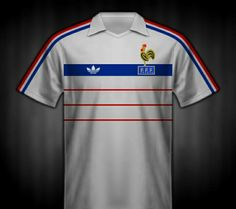 France away shirt for the 1984 European Championship.