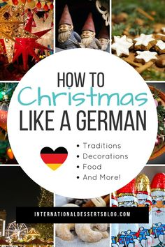 What's Christmas like in Germany? I share all of the best German Weihnachten decorations traditions decorating ornaments Christmas Markets baking recipes cookies authentic food desserts and more! German Christmas Decorations, German Christmas Traditions, German Christmas Cookies, German Christmas Markets, Christmas Sweets, Holiday Traditions, Christmas Holidays, Christmas Recipes, Holiday Recipes