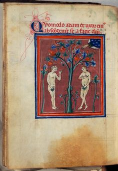 Treatise of the World's Creation - World Digital Library Duccio Di Buoninsegna, The Falling Man, Book Of Genesis, Adam And Eve, Watercolor Drawing, Christian Art, Portrait Art, Textile Art, Medieval