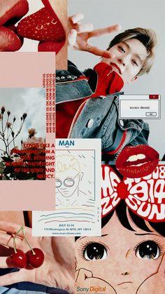 Jaehyun °•Sweet Toxic•° K Wallpaper, Tumblr Wallpaper, Red Aesthetic, Kpop Aesthetic, Aesthetic Roses, Aesthetic Lockscreens, Valentines For Boys, Jaehyun Nct, Nct Dream
