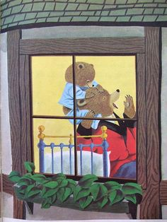 """Goodnight, Little Bear, by Richard Scarry. My daddy based his famous """"bear hunts"""" with us off this book!"""
