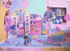 Happy Family Baby Store Playset 2002 Barbie Doll for sale online 1980s Barbie, Barbie Doll Set, Play Barbie, Barbie I, Mattel Barbie, Barbie Stuff, Fisher Price, Barbie Dress Up Games, Pregnant Barbie