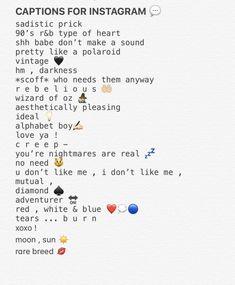 captions for instagram 😎 Snapchat Captions, Lit Captions, Instagram Captions For Selfies, Selfie Captions, Selfie Quotes, Cool Captions, Cute Picture Captions, Facebook Captions, Caption Lyrics