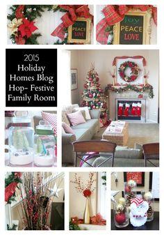 2015 Holiday Homes Blog Hop - Festive Family Room