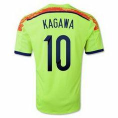 Nueva Camiseta de KAGAWA del Japon Segunda por Mundo 2014