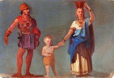 """Giulio Gabrielli, """"Famiglia picena"""", olio su cartone, cm 26 x 38,5, #PinacotecaCivica #AscoliPiceno #Marche #Italy"""