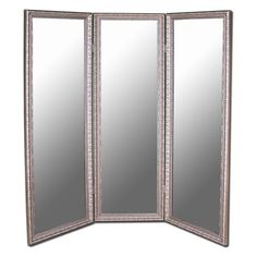 Great mirror for the changing room!! Antique Silver Full Length Free Standing Tri-Fold Mirror- 66W x 70H in.