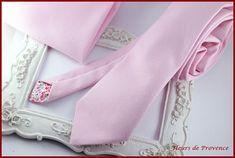 Cravate unie rose - Homme