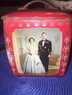 QUEEN ELIZABETH II DUKE OF EDINBURGH 1952 EDWARD SHARP & SONS LTD. BISCUIT TIN  | eBay