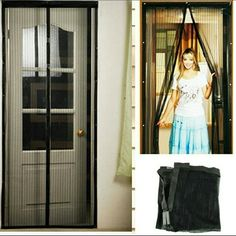 """Top-Quality-Hands-Free-Screen-Magic-Mesh-Net-Synth Top Quality Hands-Free Screen Magic Mesh Net Synthetic Fiber Magnetic Anti Mosquito Bug Summer Door Gate Curtain  Description  Color:shown as the pictures  Meterial:Synthetic Fiber  Size:210cm Lx 100 cm /83""""*39""""  ?100% New with High Quality  Magic Mesh Screen Door opens easily and then colses itself behind you using 18 powerful magnets ,  So your hands are full or you have a forgetful family member , you can still let fresh air in and keep…"""