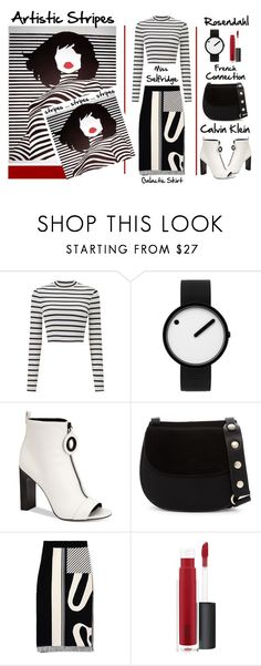 """Artistic Stripes"" by latoyacl ❤ liked on Polyvore featuring Miss Selfridge, Rosendahl, Calvin Klein, French Connection and John Lewis"