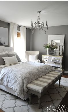 NEUTRAL GRAY BEDROOM