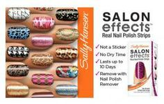 Now, Sally makes it easy to get a designer-inspired salon effect any time, any place. It wears like nail polish because it IS nail polish. No dry time, so you're ready to go.