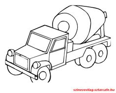 Construction vehicles coloring pages. Tractor Coloring Pages, Coloring Sheets, Coloring Pages For Kids, Kids Coloring, Transportation Theme Preschool, Ideas Vintage, Mixer Truck, Construction Theme, Quilting Projects