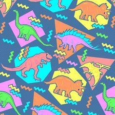 90s pattern - Dinosaur Print