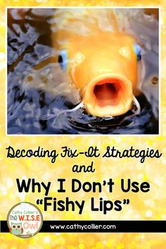 """Decoding Fix-It Strategies and Why I Don't Use """"Fishy Lips"""" Teaching Kindergarten, Teaching Reading, Decoding Strategies, Beginning Of Year, Big Words, First Grade Teachers, Word Study, In Writing, Vocabulary"""
