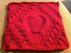 Diamond & Heart Dishcloth