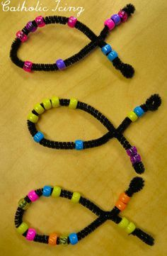 Easy jesus fish craft for preschoolers - ichthus (the Greek word for fish.)