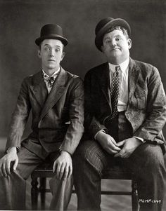 Laurel and Hardy were a comedy double act during the early Classical Hollywood era of American cinema. The team was composed of thin Englishman, Stan Laurel and heavyset American, Oliver Hardy.
