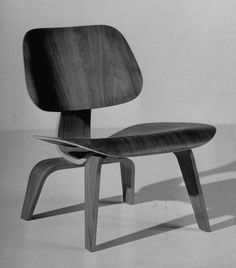 Chair designed by Charles and Ray Eames made of plywood.