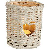 White Heart Willow Case Tealight Holder- Small