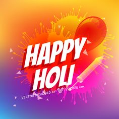 Beautiful Happy Holi With Color Splash And Pichkari Background Free Vector Download - https://vecree.com/3350172/beautiful-happy-holi-with-color-splash-and-pichkari-background-free-vector-download/