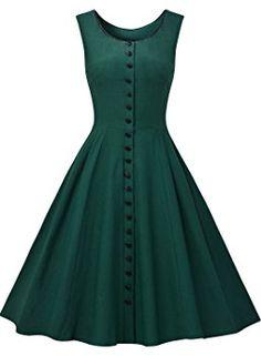 2c99614c46 MissMay Women s Audrey Hepburn Sleeveless Retro Swing Rockabilly Evening  Dress at Amazon Women s Clothing store