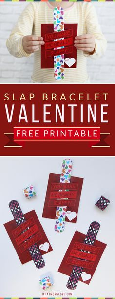 "Non-Candy Printable Valentines Day Card Perfect For The Classroom: ""You Make Me Really Slappy!"" Free Printable Valentines For Kids. Such a fun idea for a non-candy Valentines card – perfect for your child's school classroom Valentine's Day party! Kinder Valentines, Valentine Gifts For Kids, Valentines Day Activities, Valentines Day Party, Valentines Day Decorations, Valentine Day Crafts, Printable Valentine, Valentine Ideas, Printable Party"