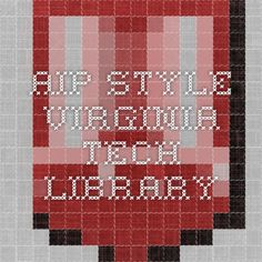 AIP Style - Virginia Tech Library
