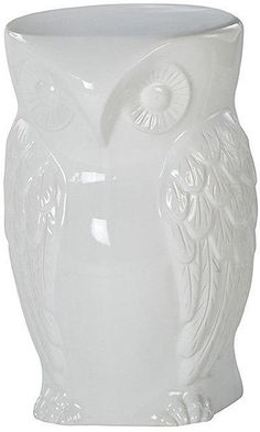 Urban Barn Hoot Stool in White - have x2. Would be great as to use both with a rectangular glass coffee table top or round glass for bedside tables.