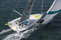 IMOCA60 Safran 2, skipper Morgan Lagraviere training with Nico Lunven