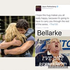 •bellarke• really hope their will be more bellarke scenes in season five. #The100 #bellarke #bellamyblake