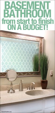 Bathroom makeover on a budget! - Wall Stencils from Royal Design Studio